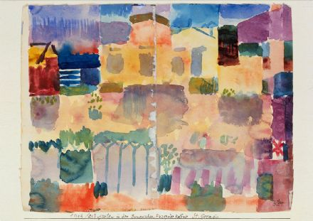 Klee, Paul: Garden in St. Germain, The European Quarter Near Tunis. Fine Art Print/Poster (5017)